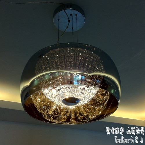 Brief flatworm pendant lamp pumpkin glass cover crystal lamp