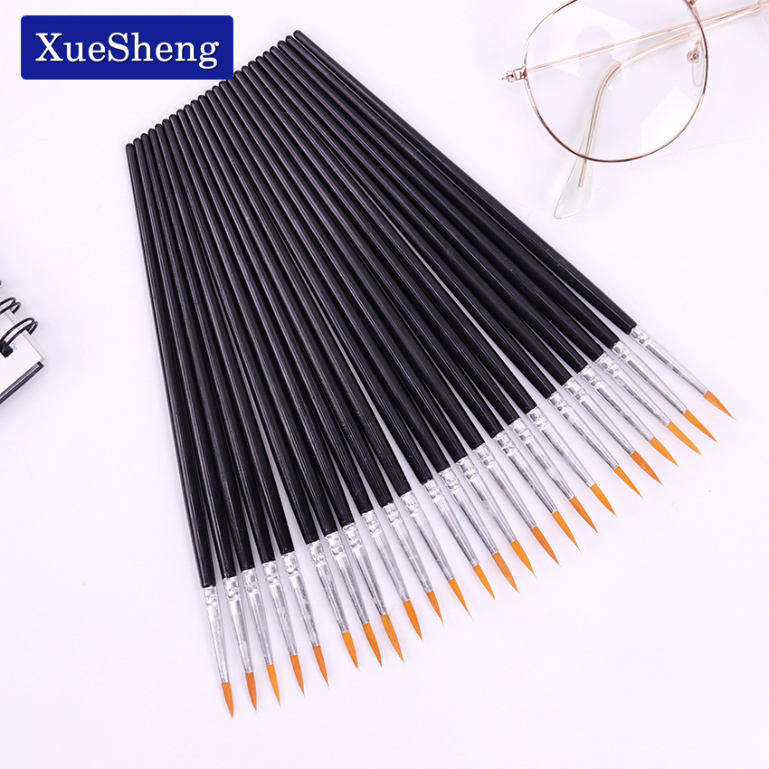 10 PCS/Set Fine Hand Painted Thin Hook Line Pens Black Art Supplies Drawing Art Pen Paint Brush Nylon Brush Painting Pen цена