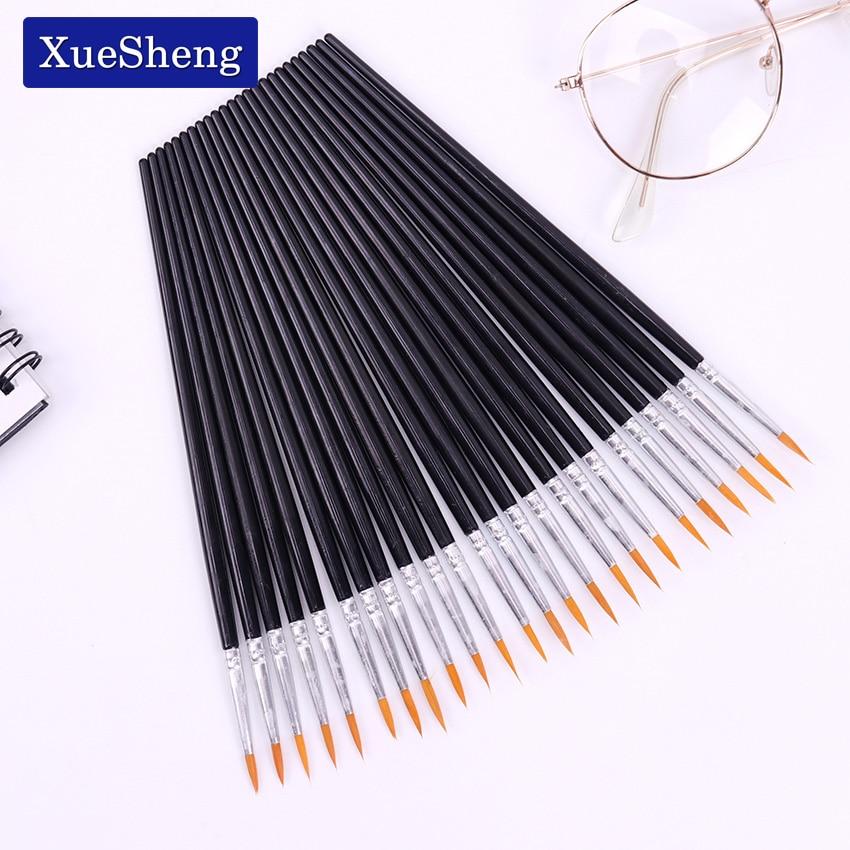 10 PCS/Set Fine Hand Painted Thin Hook Line Pens Black Art Supplies Drawing Art Pen Paint Brush Nylon Brush Painting Pen