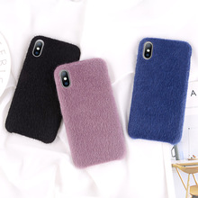 KJOEW Plush Fabrics Phone Case For Apple iPhone X XS Max XR 8 7 6s 6 Plus Warm Fashion Soft Color Back Cover Cases Capa