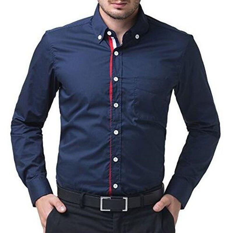 Márka 2018 divat férfi póló hosszú ujjú felsőrészek tömör - Férfi ruházat