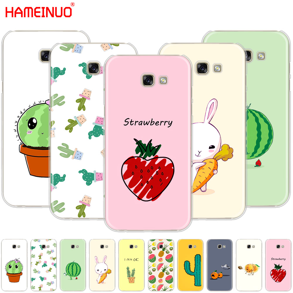 HAMEINUO Funny <font><b>cartoon</b></font> fruit plant cactus strawberry <font><b>phone</b></font> <font><b>case</b></font> cover for <font><b>Samsung</b></font> Galaxy A3 A310 <font><b>A5</b></font> A510 A7 A8 A9 <font><b>2016</b></font> 2017 2018 image