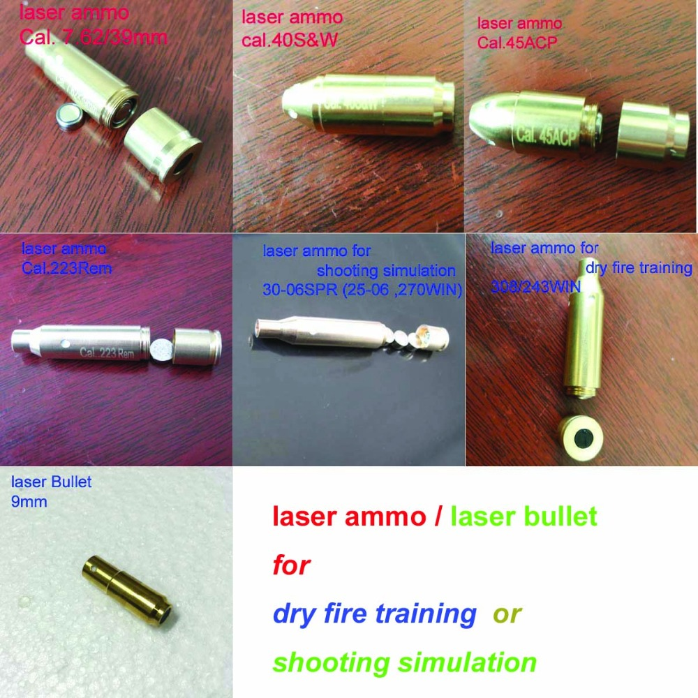Laser Ammo,Laser Bullet, Laser Cartridge for Dry Fire Training and Shooting Simulation-in Lasers from Sports & Entertainment