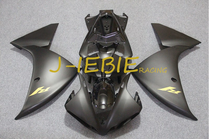Black gold Injection Fairing Body Work Frame Kit for Yamaha YZF 1000 R1 2009 2010 2011