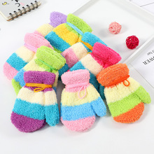 Colorful Children Gloves Autumn Winter Kid mittens Warm Boy Girl BeBe Mittens Coral Pack Baby Stitching Gloves Infant Toddler