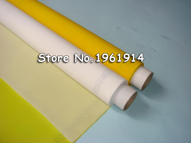 White Color 1 Yard Silk Screen Printing Mesh 120 Mesh 48T Count 100% Polyester