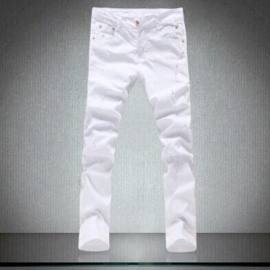 ФОТО sale !high quality men's  casual pants,fashion skinny jeans men pencil pants white 28 to34