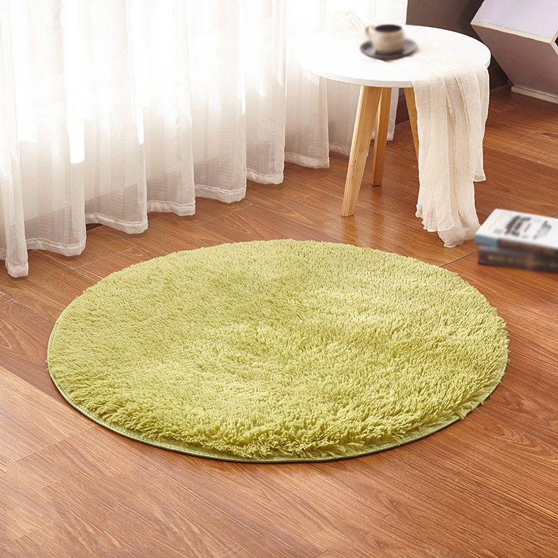 Soft Plush Bedroom Carpet Round Fluffy Rugs Anti Skid
