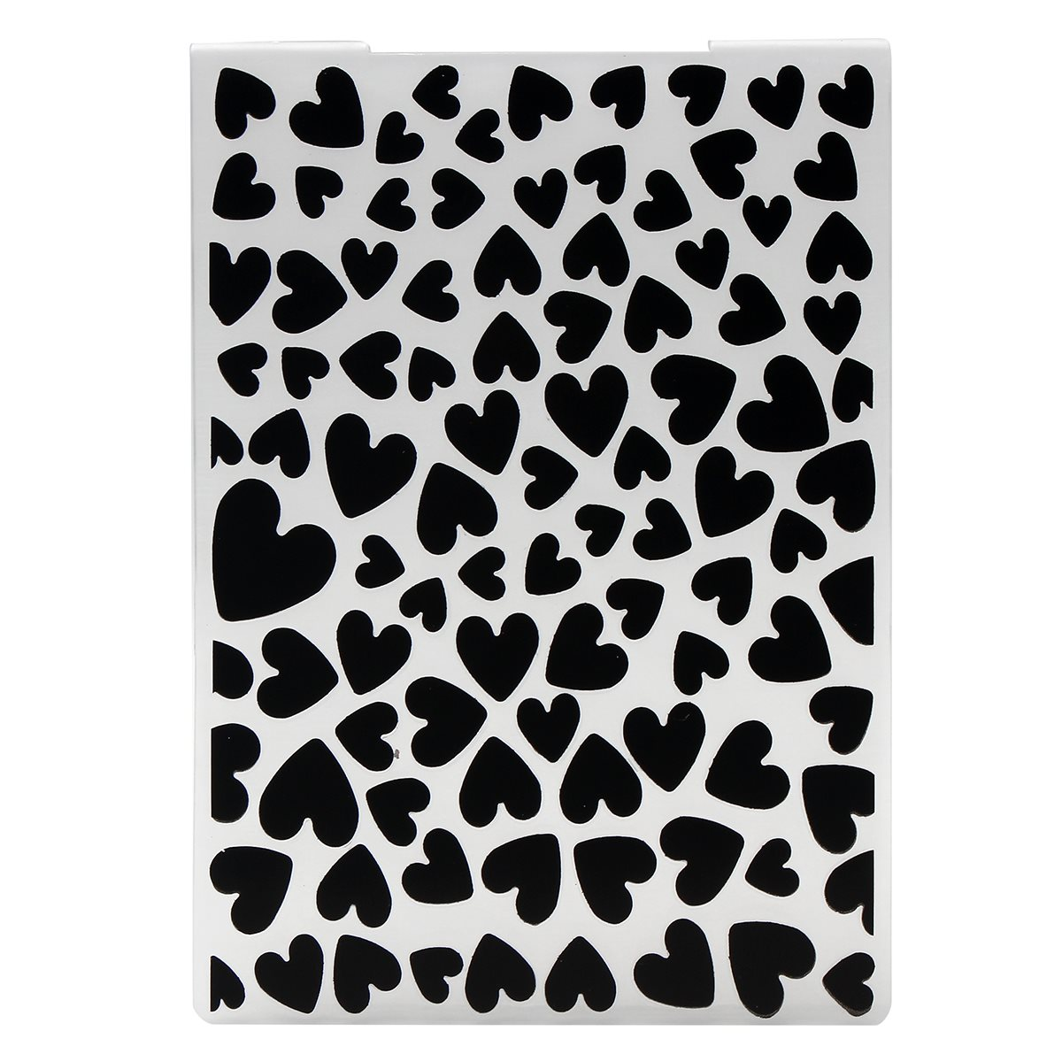 KiWarm Heart Shape Love DIY Stamping Plastic Embossing Folder ...