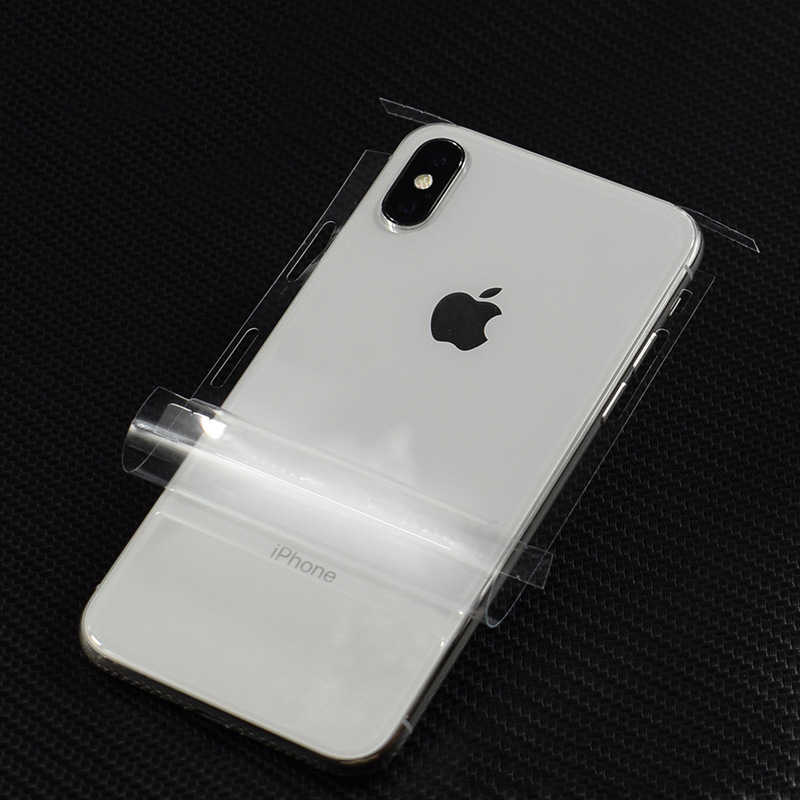 HD ALL Transparent Decorative Back Film For Apple iPhone X 7 8 6 6s Plus Mobile Phone Protector Back Stickers AE Saver SHIP+Gift
