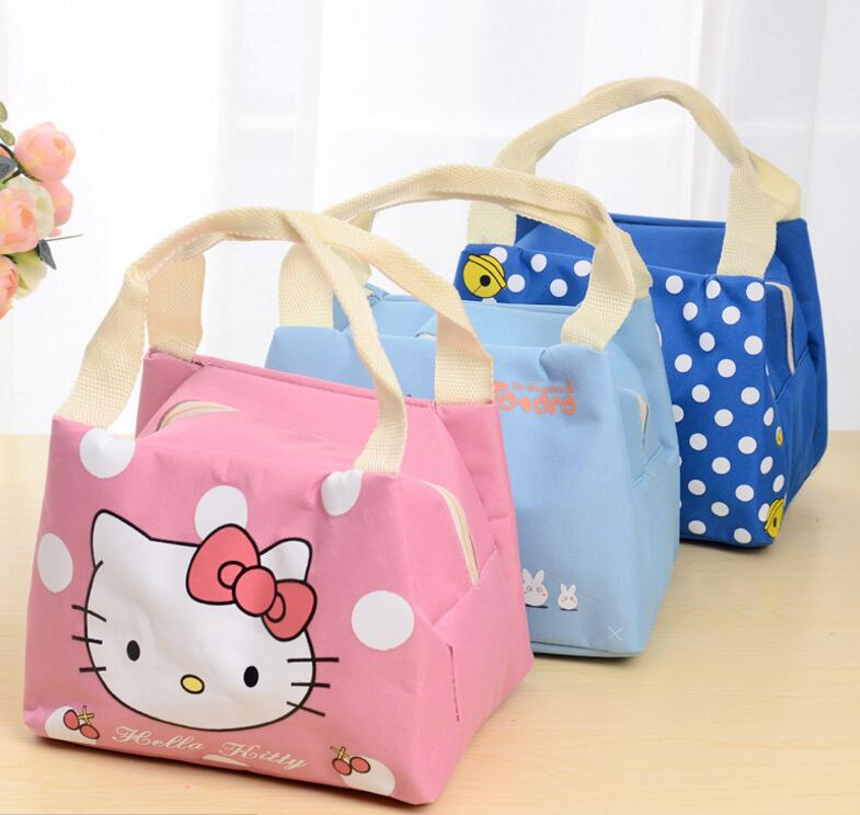 10aece98f268 US $4.6 |oxford kids lunch bags Totoro Hello Kitty Doraemon meal bag for  childern thermal insulation lunchbox bag waterproof picnic bags-in Lunch  Bags ...