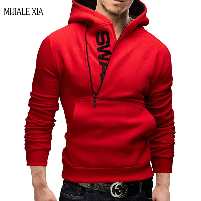 81bb5bcc5 New High Quality sweatshirt Men Fashion Autumn&Winter hooded hoodie Zipper  colours&Add upset Sweatshirts plus size M-6XL 6Color