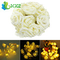 30 LED White Decorating Rose Battery Light and Light String