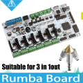 3D Printer Diamond Hotend Brass Multi Color Nozzle 3 IN 1 OUT Control Kits Mother Rumba Board based on ATmega's'AVR processor