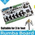 Impressora 3D Diamante Bico Hotend Latão Multi Cor 3 EM 1 FORA de Controle Kits Mãe Rumba Board com base em ATmega's'AVR processador