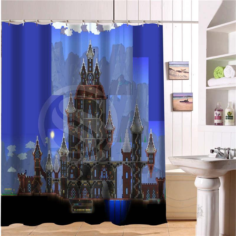 WJY510H28 Custom Terraria Game Fabric Modern Shower Curtain Bathroom  Waterproof Free Shipping N28 In Shower Curtains From Home U0026 Garden On  Aliexpress.com ...