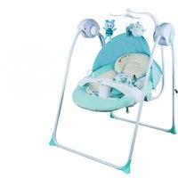 Утепленные стальная рама ребенка электрический кресло качалка может успокоить ребенка спать предотвратить ребенка плевать молоко детское