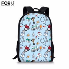 FORUDESIGNS Customize Unique School Bag for Teenager Girls Boy Dot&Stripe Print Backapck Childrens Book Students Mochila