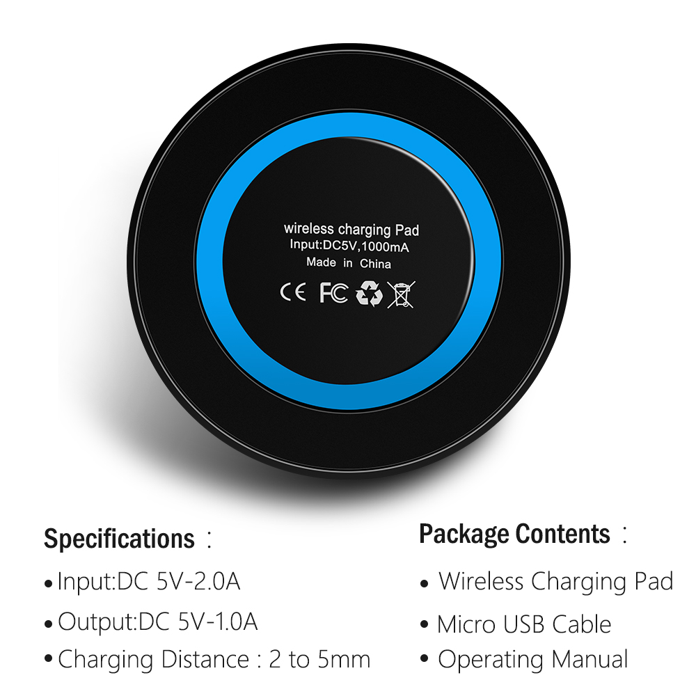 Proelio-Mini-Qi-Wireless-Charger-USB-Charge-Pad-Charging-For-iPhone-X-8-8-Plus-Samsung