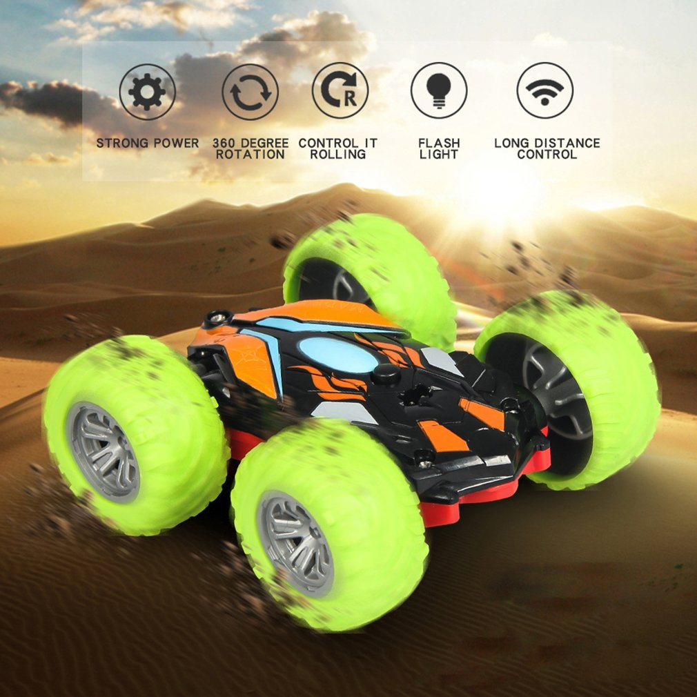 2019 Create Toys 8031 1/48 RC Stunt Car 2.4G Double-sided Flip 360 Rotation Off-road Climbing Racing Car For Kids Gift Buggy Car