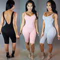 2016 Rompers Womens Jumpsuit Bodysuit Macacão Combinaison Femme Sexy Magro Mangas Backless Bodycon Jumpsuit Mulheres Playsuit