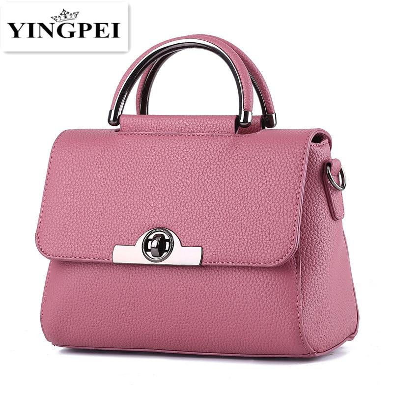 e5bc7db65151 YINGPEI женские сумки повседневная женская сумка из искусственной кожи сумки  с ручкой сверху на плечо женские