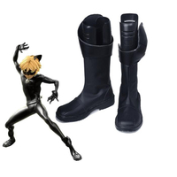 Anime Miraculous Ladybug Cat Noir Marinette Cosplay Shoes Boots Custom Made New