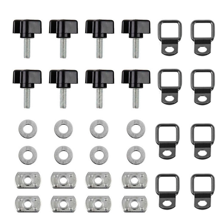 Washer and Nut Fastener KIT for YJ TJ JK Jeep Wrangler Hard Top Thumb Screw