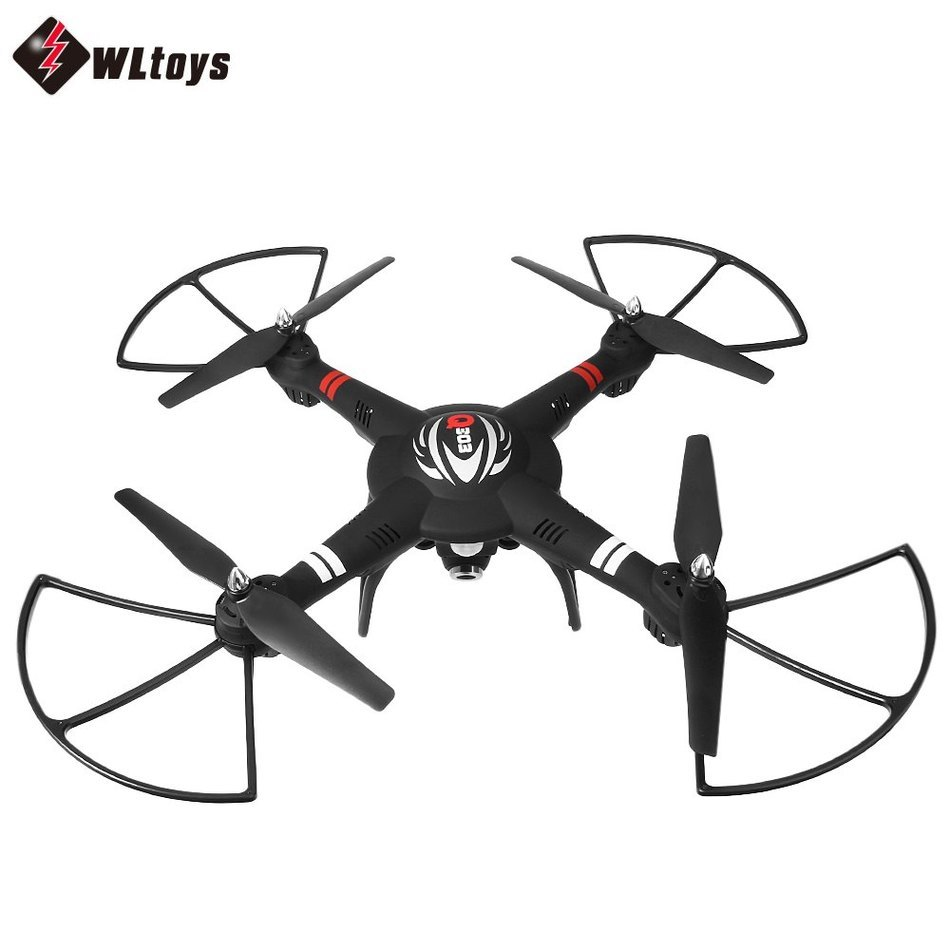 WLtoys Q303 - B 2.4GHz 4CH 6 Axis Gyro FPV Mini RC Quadcopter RTF Wifi Control with 2MP Camera  Remote Control Helicopter Black wltoys v959 2 4g 4 channel 4 axis gyro ufo 4ch remote control rc aircraft quadcopter helicopter with camera wl v959 quad copter