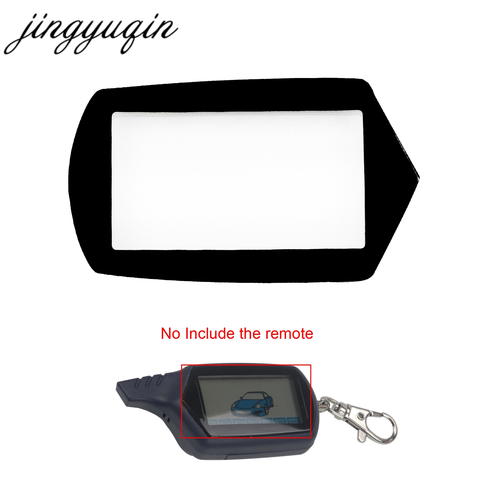 jingyuqin Keychain Glass for Starline B9/A91/B6/A61/B61/B91/V7 2-way LCD Remote Controller Glass+Double Sides Adhesive Tape цена