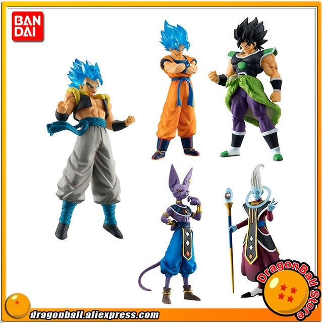"""Dragon Ball SUPER"" Original BANDAI Gashapon FIGURA de ALTO GRAU REAL Brinquedo 02-Conjunto Completo de 5 Peças broly Goku Gogeta Beerus Whis"