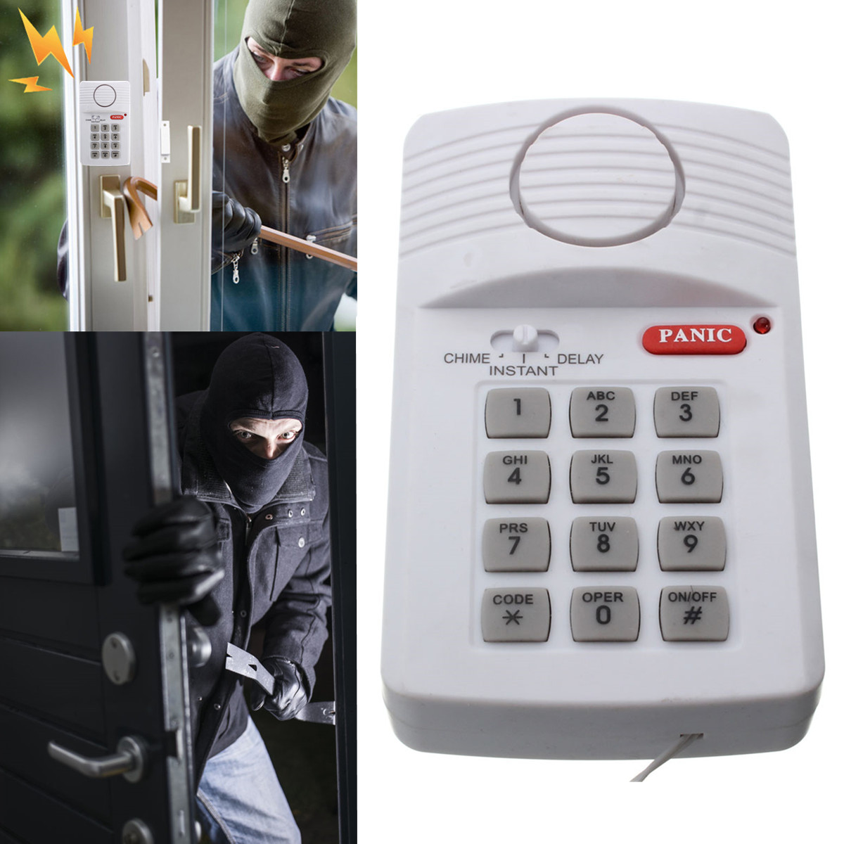 High Quality Security Keypad Door Alarm System With Panic Button For Home Shed Garage Caravan Hot Sale