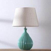 Современная Nordic простой зеленый/белый Керамика ткань E27 Регулируемая Настольная лампа для Гостиная Спальня исследование деко высота 51 см