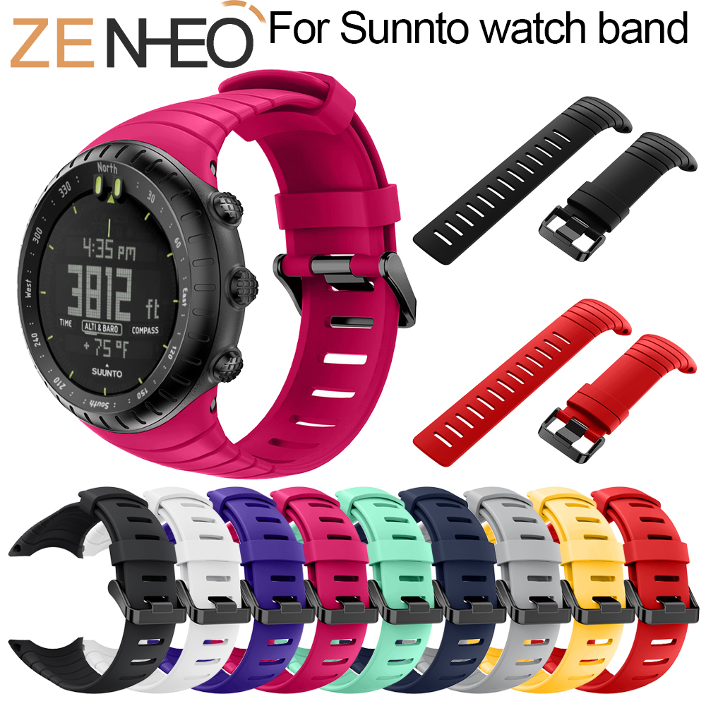 Watchband Rubber Watch Replacement Band Strap For Suunto Core Silicone Watch Strap Bracelet Wristband for Suunto Core Smart Wath