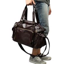 Multifunction Men PU Leather Travel Waterproof Messenger Bag