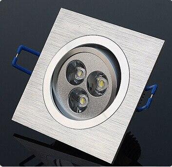 Бесплатная доставка 3x2 Вт dimmable Подпушка освещение квадратный потолочный светильник теплый белый/холодный белый светодиод встраиваемые реш...