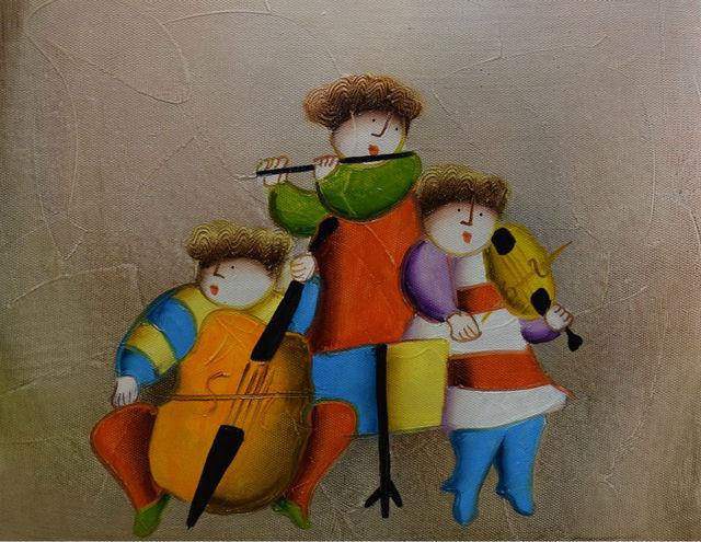 100 Hand Painted Cartoon Oil Painting on Canvas Modern Cartoon - cartoon children play