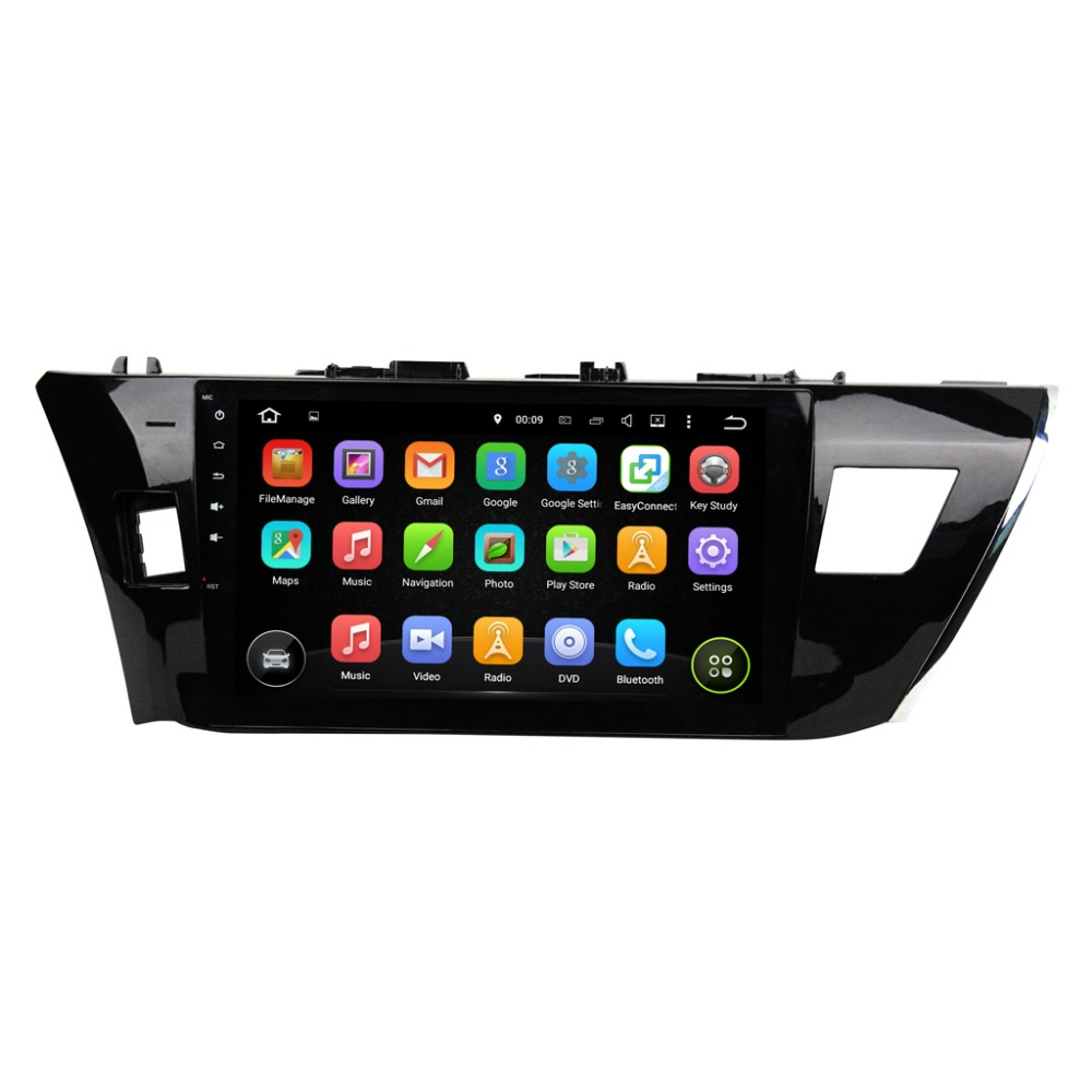 Android 5.1 car Radio Video player for Toyota Corolla 2014 2015 in dash 2 din 1024*600 car gps navigation in dash gps
