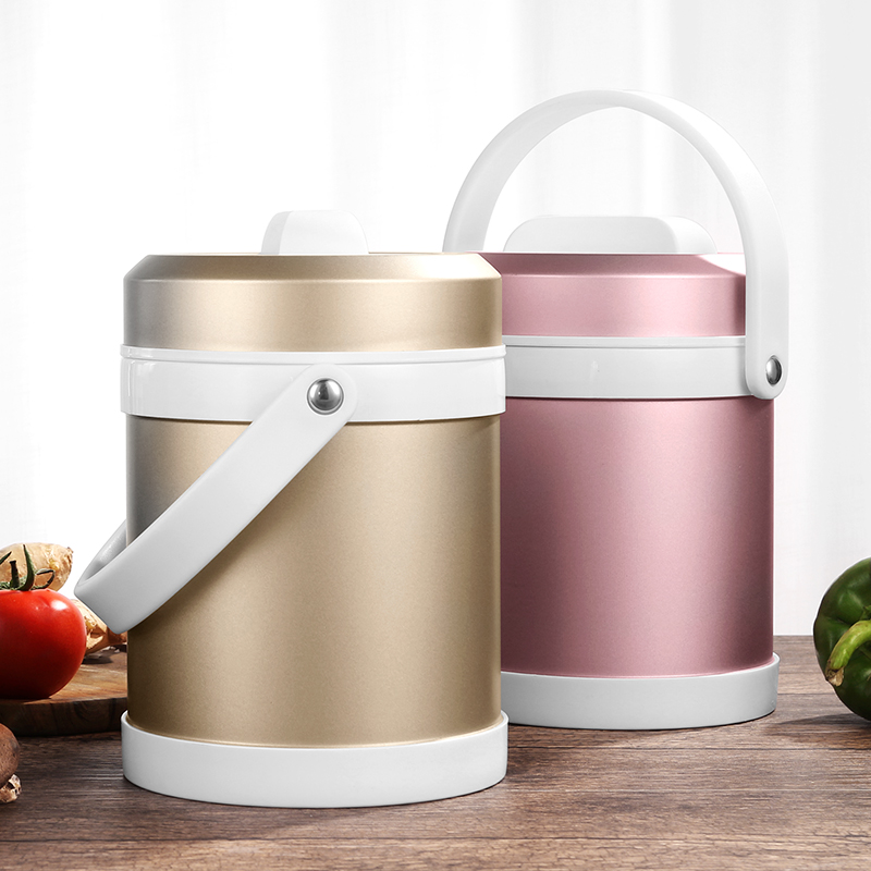 304 Stainless Steel Lunch Box 2.0L Thermal Insulated Soup Bowl Vacuum Soup Pot Sleeve Bag Optional School Box For Meal Keep Cold