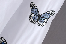 POPOKi White Shirt PLUS SIZE butterfly Embroider 2XL-5XL