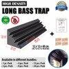 New 50 X 50 X 5 Cm 12 Pcs Pyramid Acoustic Foam Bundle Sound Absorption Black