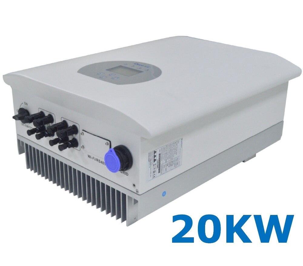 20000W String Solar Power on Grid Tie Inverter 3 Phase AC 380V/440V DC 200-1000V PV Transformerless 7KW Wi-Fi 6000w 140v 800vdc three phase transformerless solar grid tie inverter with ce rohs approvals