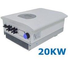 20000 Вт струнная солнечная мощность на сетке галстук инвертор 3 фазы переменного тока 380 В/440 В постоянного тока 200-1000 В PV без преобразования 7 кВт Wi-Fi
