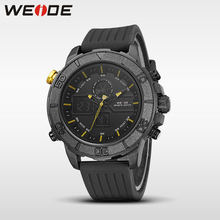 WEIDE genuine brand luxury  silicon watch sport date digital led quartz men's watch white water resistant analog relojes hombre цена