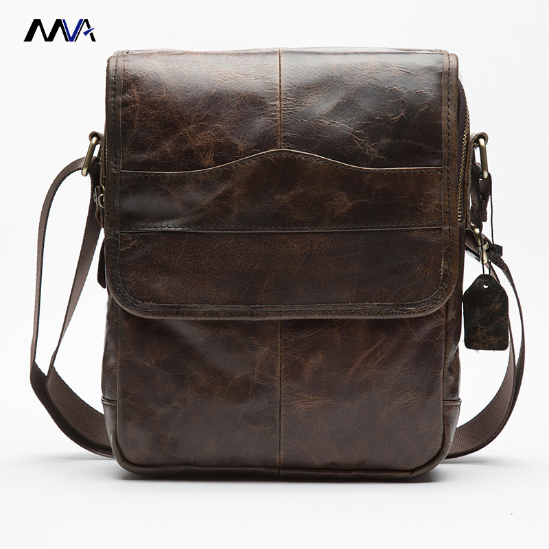 MVA Men Genuine Leather Bags Small Casual Flap Shoulder Crossbody Bags Messenger Men's Leather Bag Men Handbags mva men genuine leather bag shoulder crossbody bags messenger small flap casual handbags male leather bag top handle men bags