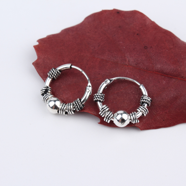 Dayoff European Endless Earrings Small Circle Earring Women Man