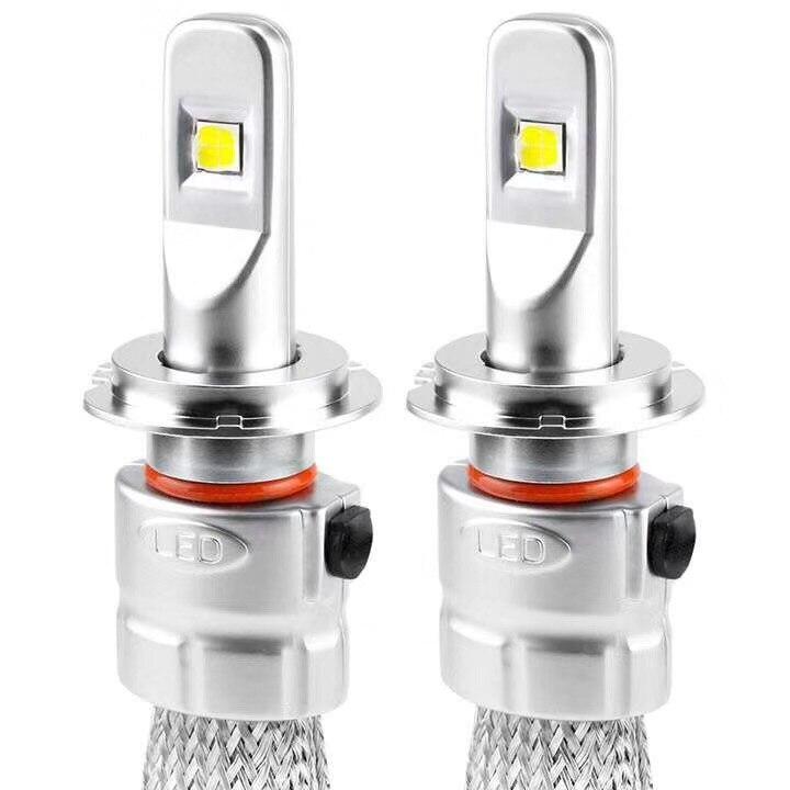 2 шт. H7 светодиодный H1 H4 H11 для автомобильных фар R3 9600lm с мини объектив H3 HB4 H8 HB3 9005 9006 светодиодный противотуманный свет 6000K Белый автомобилей с... - 6