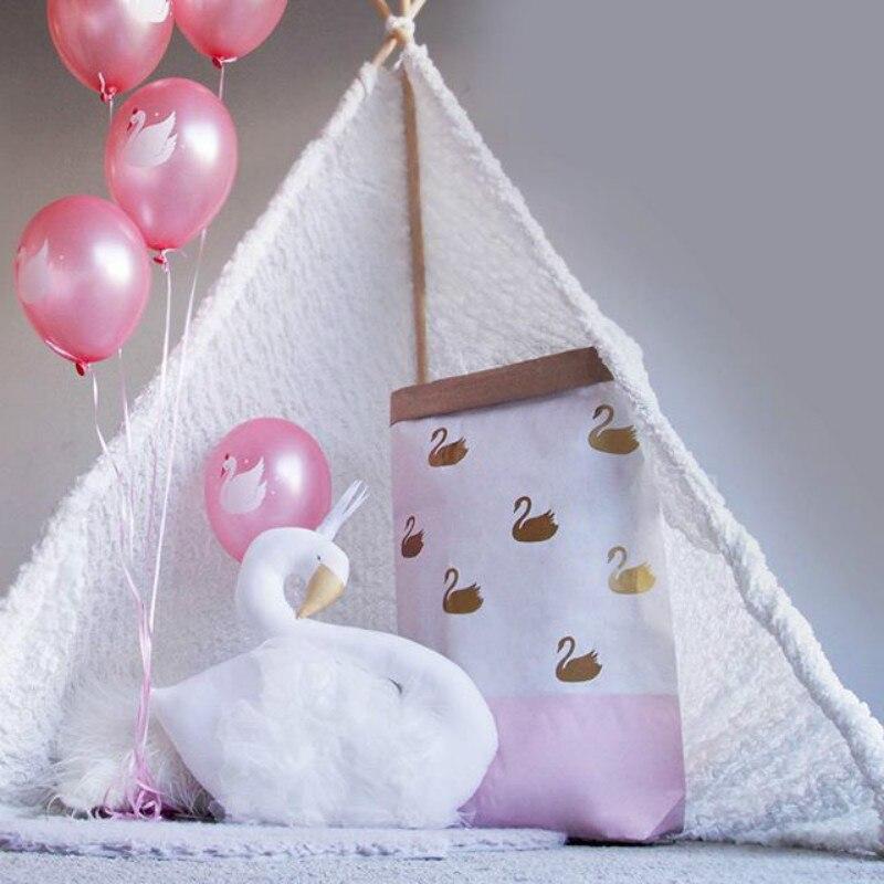 Kawaii Swan pude til baby værelser børn sengetøj puder pude spædbarn rejse pude almofada baby oreiller bebe julegave
