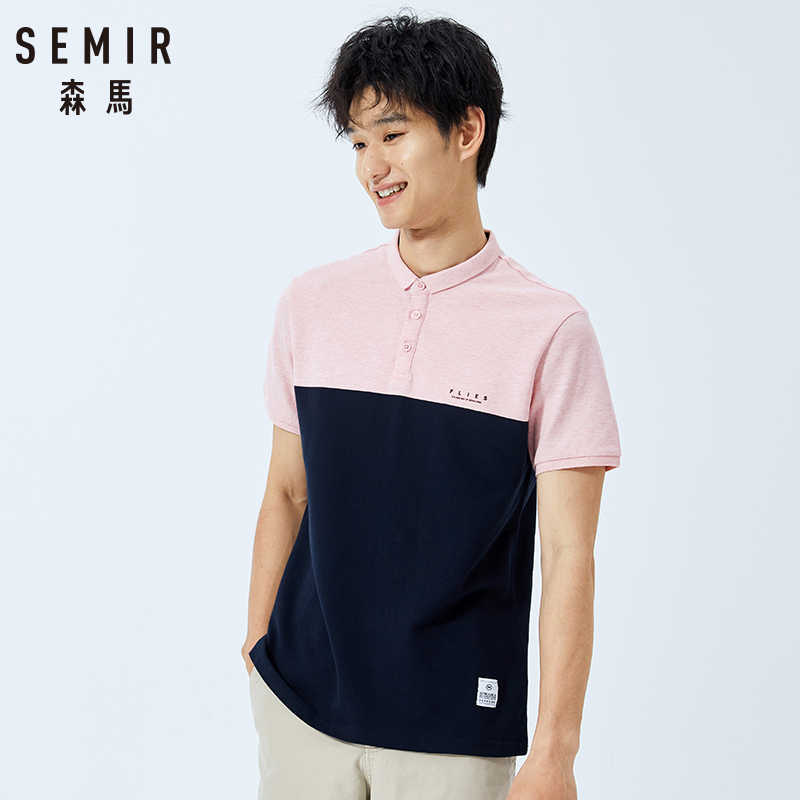 SEMIR New Mens Polo Shirt 2019 Pocket Trend Slim Fit Short Sleeve 100%cotton Polo Mens Clothing Summer Men Polo Shirt