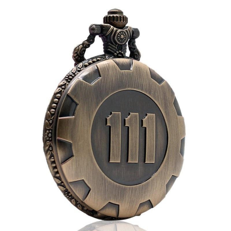 Bronze Pocket Watch Fallout 4 Vault 111 Electronic Games Necklace Chain Pendant колесные диски shark s1010 5 5x13 4x100 d73 1 et35 s